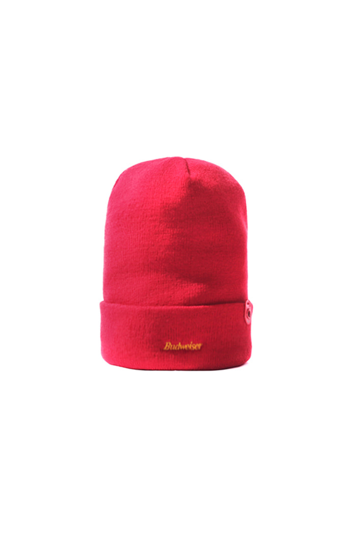 RED CAN END BEANIE (RED)