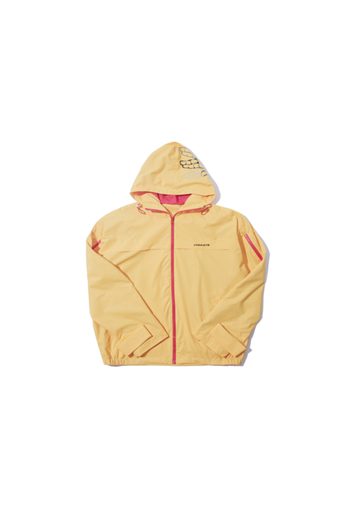 SIDE ZIPPER WINDBREAKER (YELLOW)