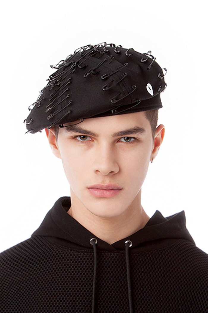 PIN POINT BERET (BLACK)