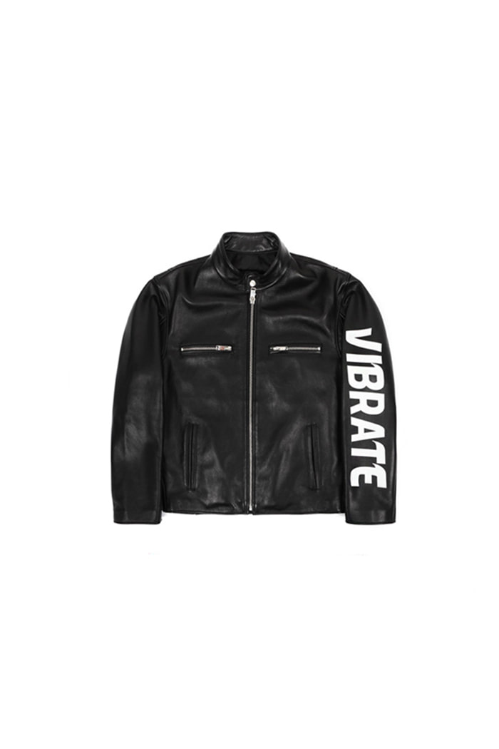 SIDE LOGO SINGLE RIDER JACKET (BLACK)