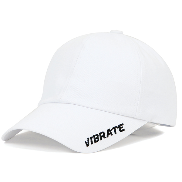 VIBRATE - SIDE LOGO BALL CAP (white)
