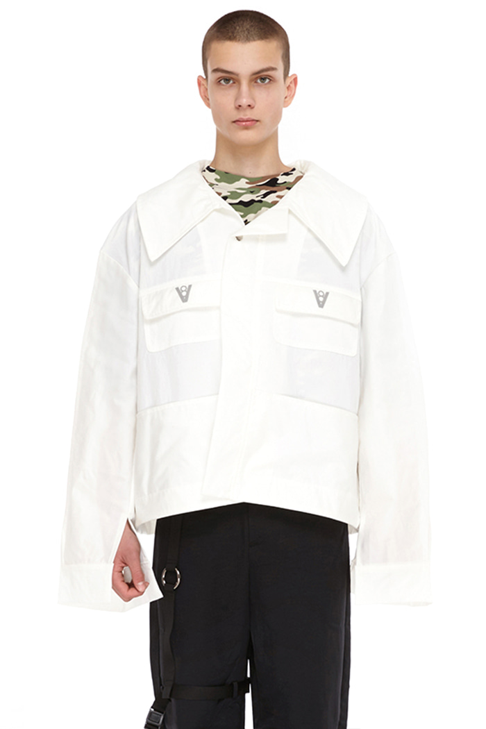 POLY RIDER JACKET (WHITE)