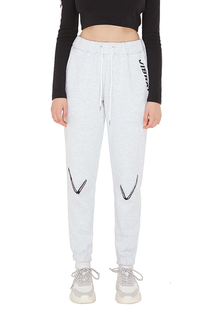 V TAPE JOGGER PANTS (GRAY)