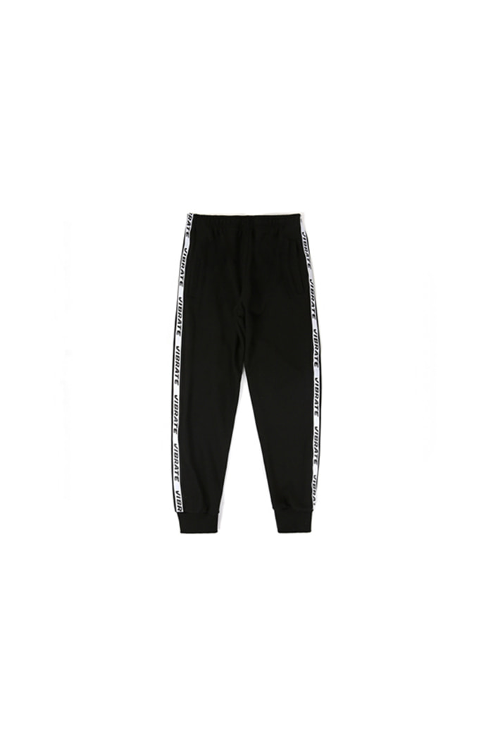 LOGO WEBBING TAPE JOGGER PANTS (BLACK)