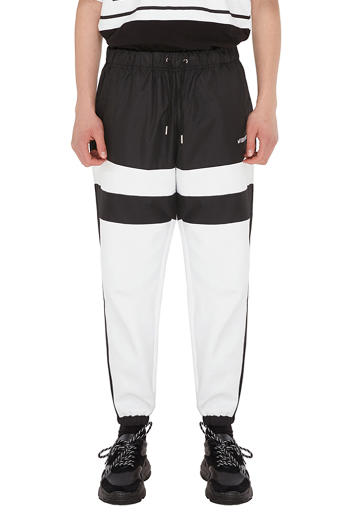 LINE COLOR SCHEME JOGGER PANTS (BLACK&WHITE)