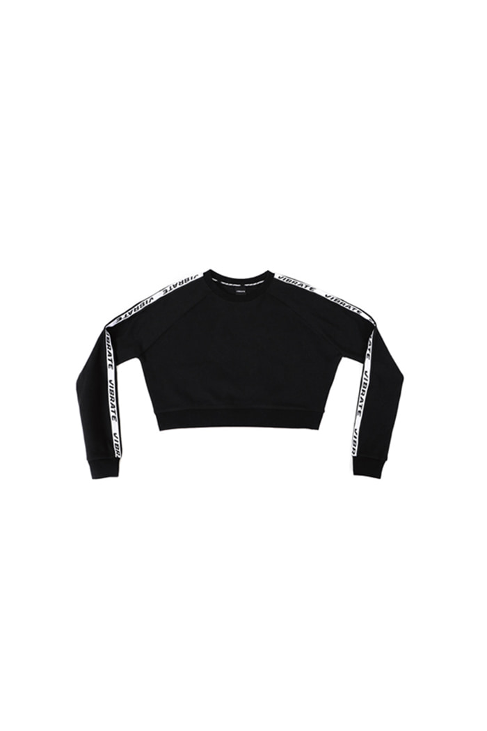 BASIC LOGO WEBBING TAPE CROP (BLACK)