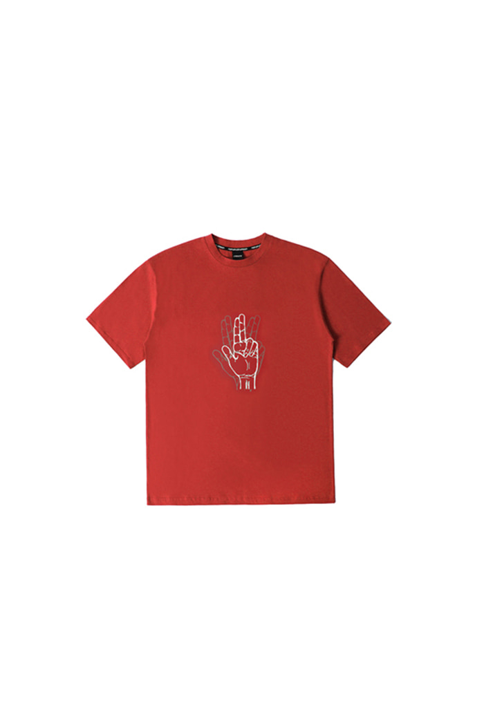 CLASSIC HAND SHAKE SIGN T-SHIRT (red)