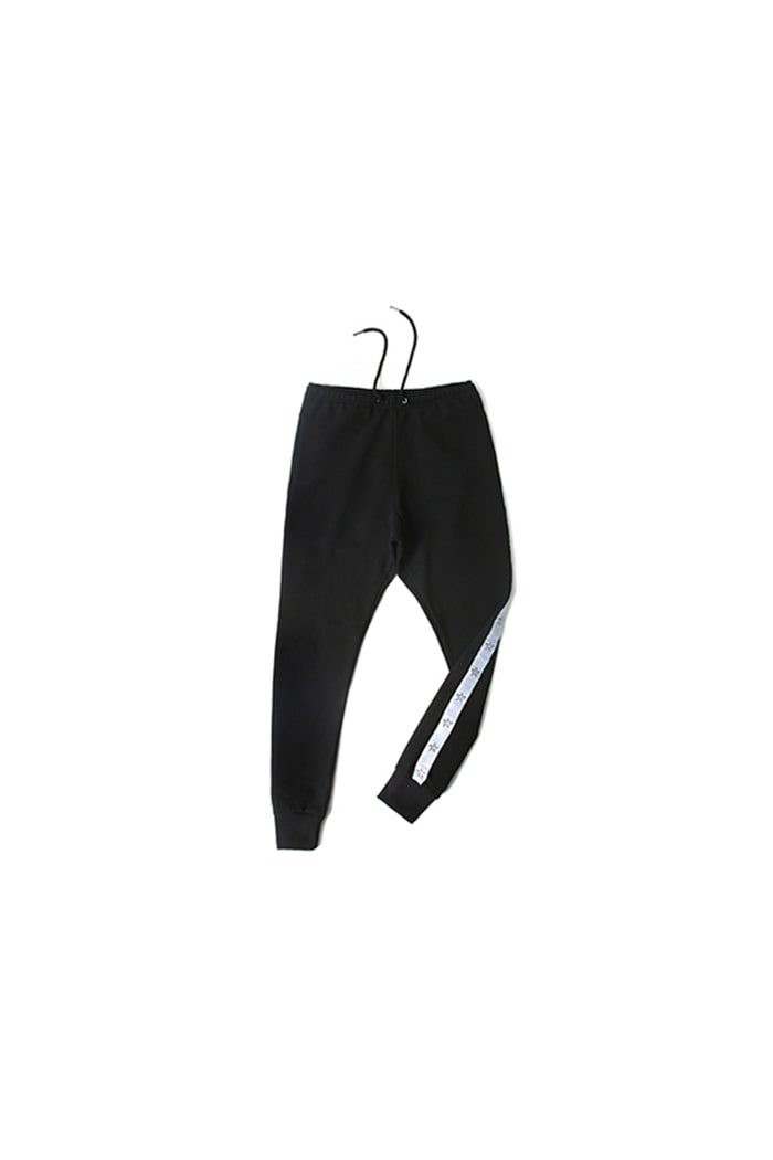 STAR ARRANGE BAGGY PANTS (BLACK)