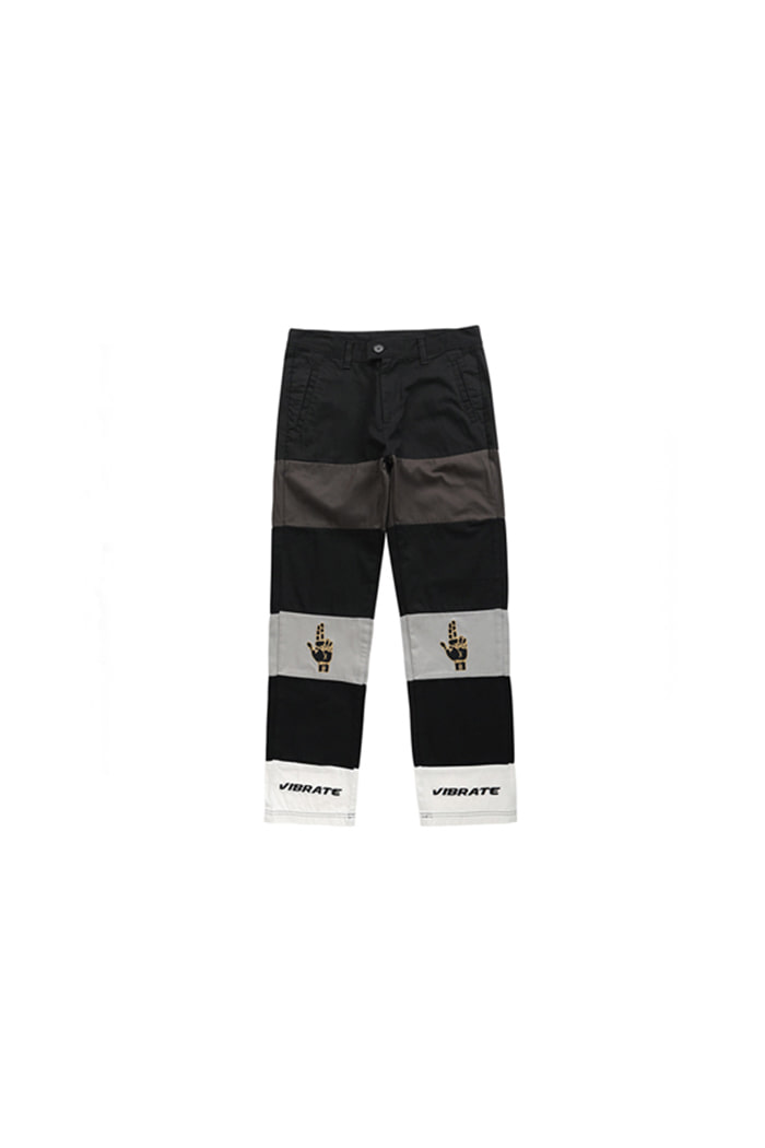 HAND SIGN COTTON PANTS (BLACK)