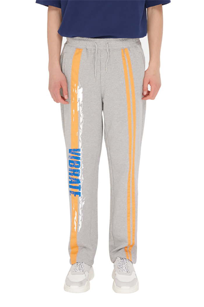 LINE TAPE PAINT TREK PANTS (GRAY)