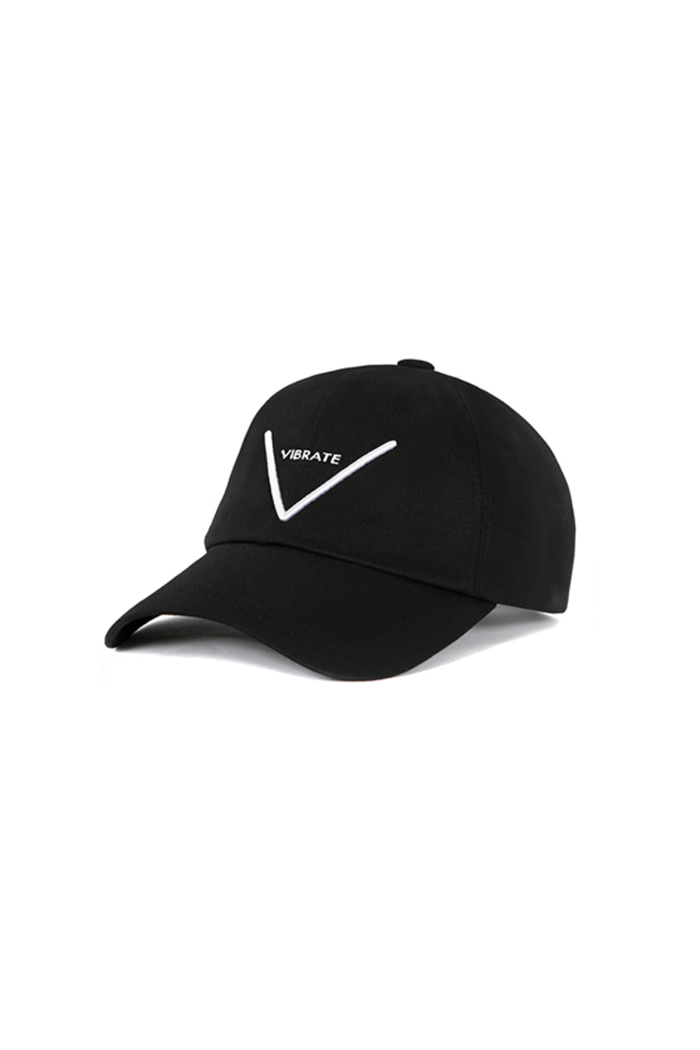 V LOGO BALL CAP (BLACK)