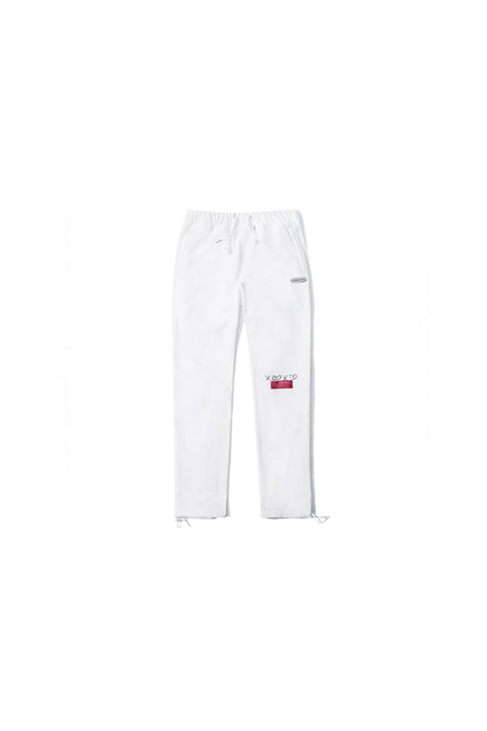 D.W.Y.Y BACK PRINT JERSEY PANTS (WHITE)