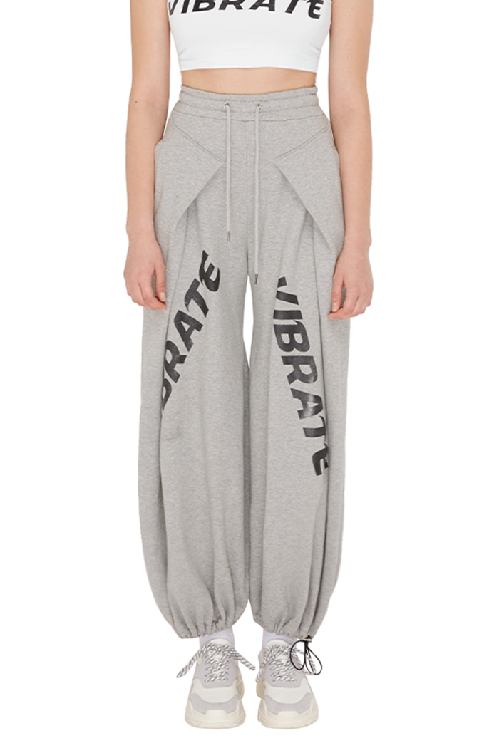 WIDE HAKAMA JOGGER PANTS (womans) (GRAY)