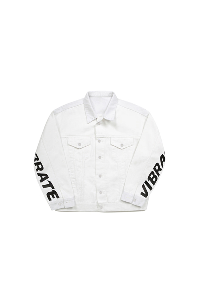 BASIC DENIM JACKET (WHITE)