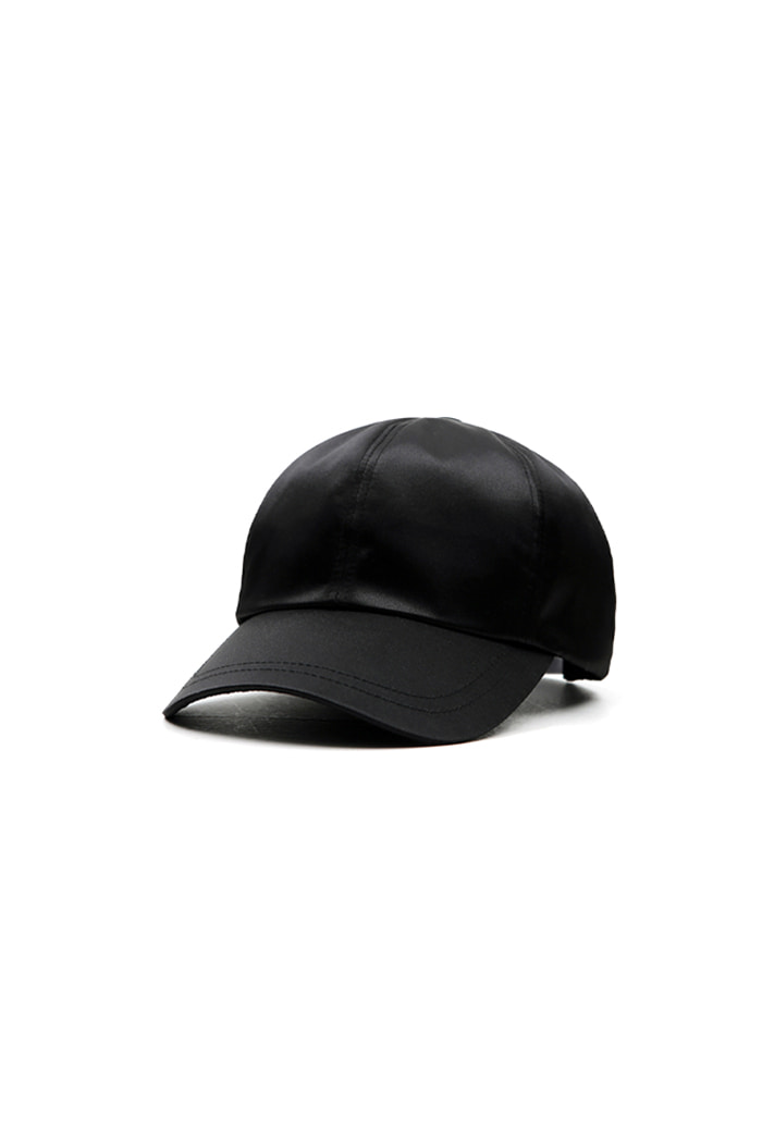 SATIN BALL CAP (BLACK)