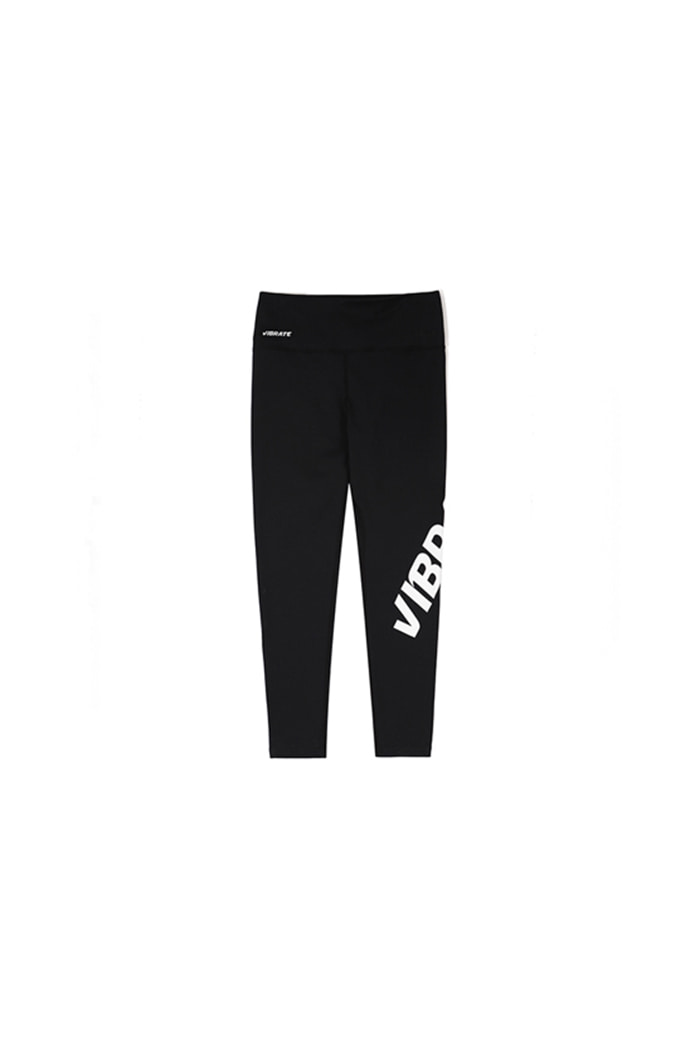 TWISTED SIDE LINE LOGO LEGGINGS (BLACK)