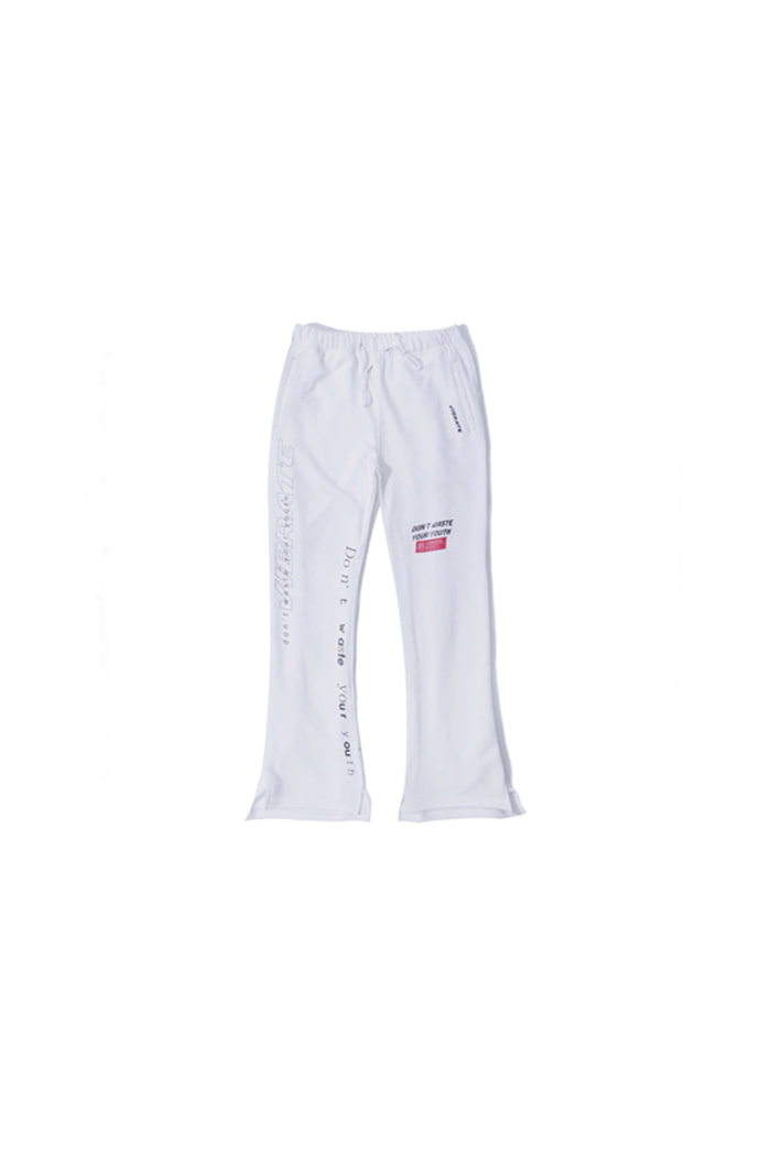THEME WORDS JERSEY PANTS (WHITE)