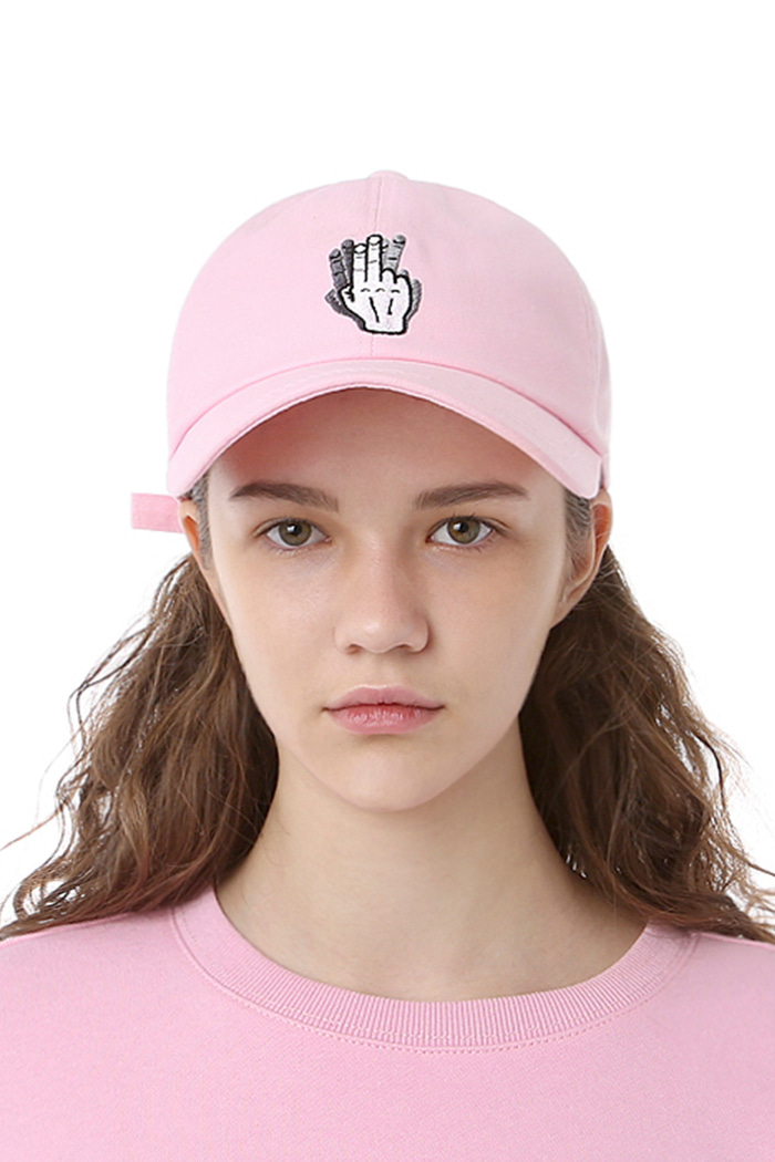 HAND SHAKE SIGN BALL CAP (PINK)
