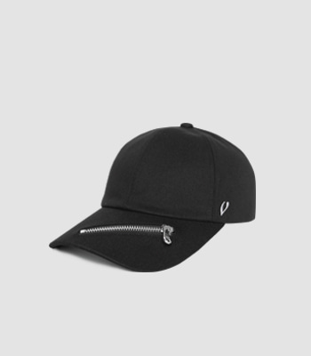 ZIPPER BALL CAP (BLACK)
