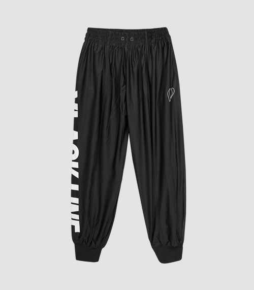 SIDE LOGO JOGGER PANTS (BLACK)