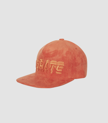 SIGNATURE NAME SNAPBACK (SUEDE ORANGE)