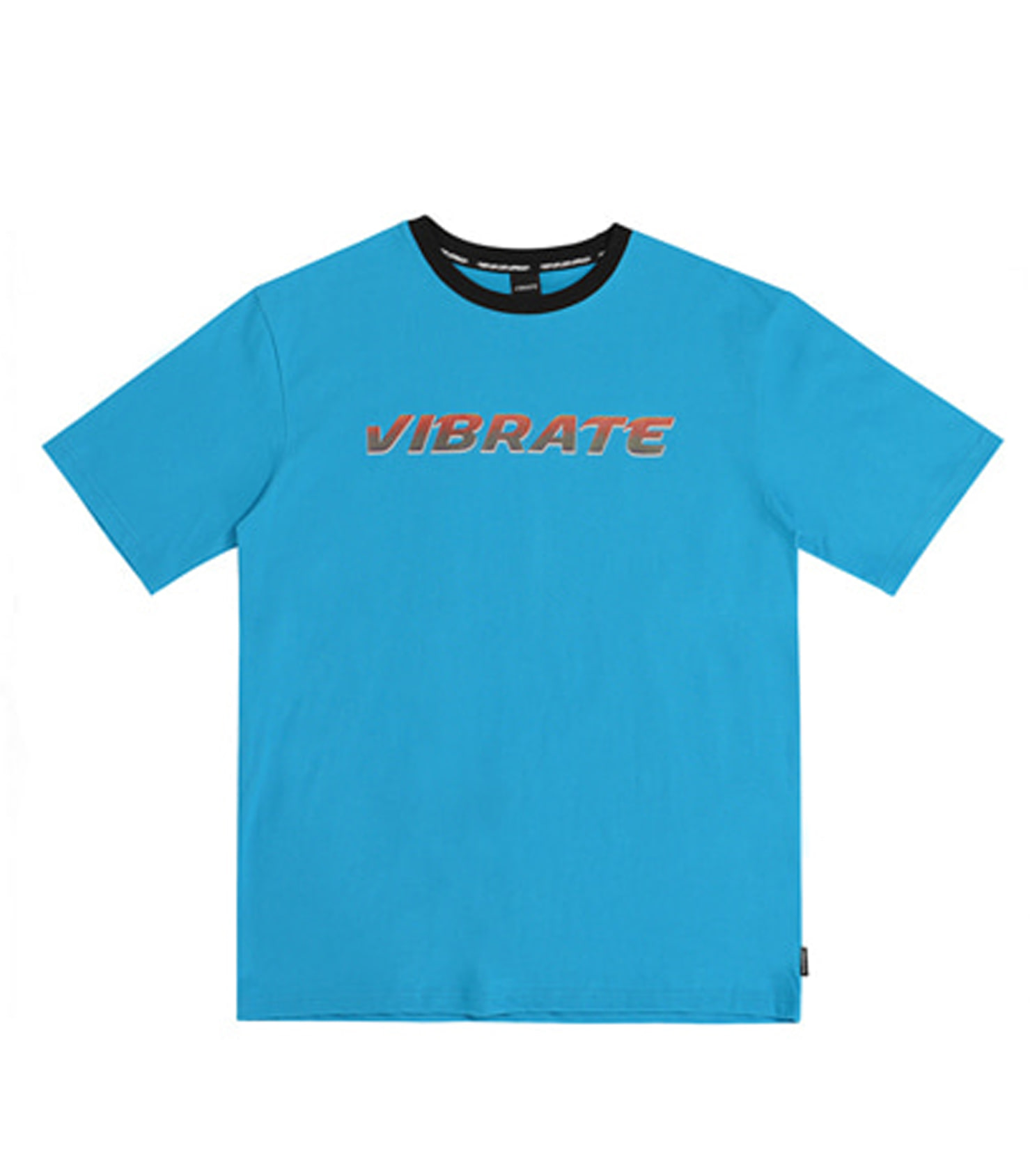 NECK POINT TWO TONE T-SHIRT (BLUE)