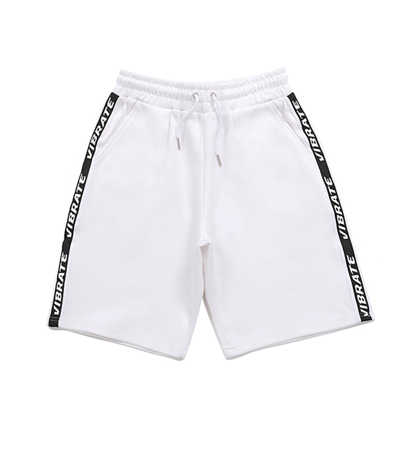 BASIC LOGO WEBBING TAPE SHORT PANTS (WHITE)