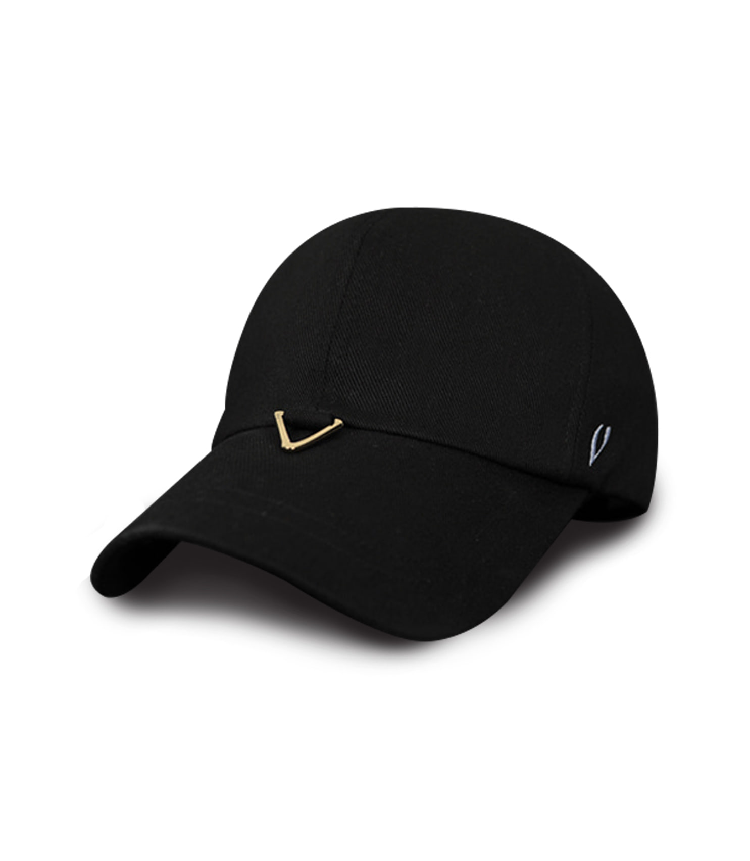 BLACK LINE - GOLD TRIANGLE VISOR BALL CAP (BLACK)