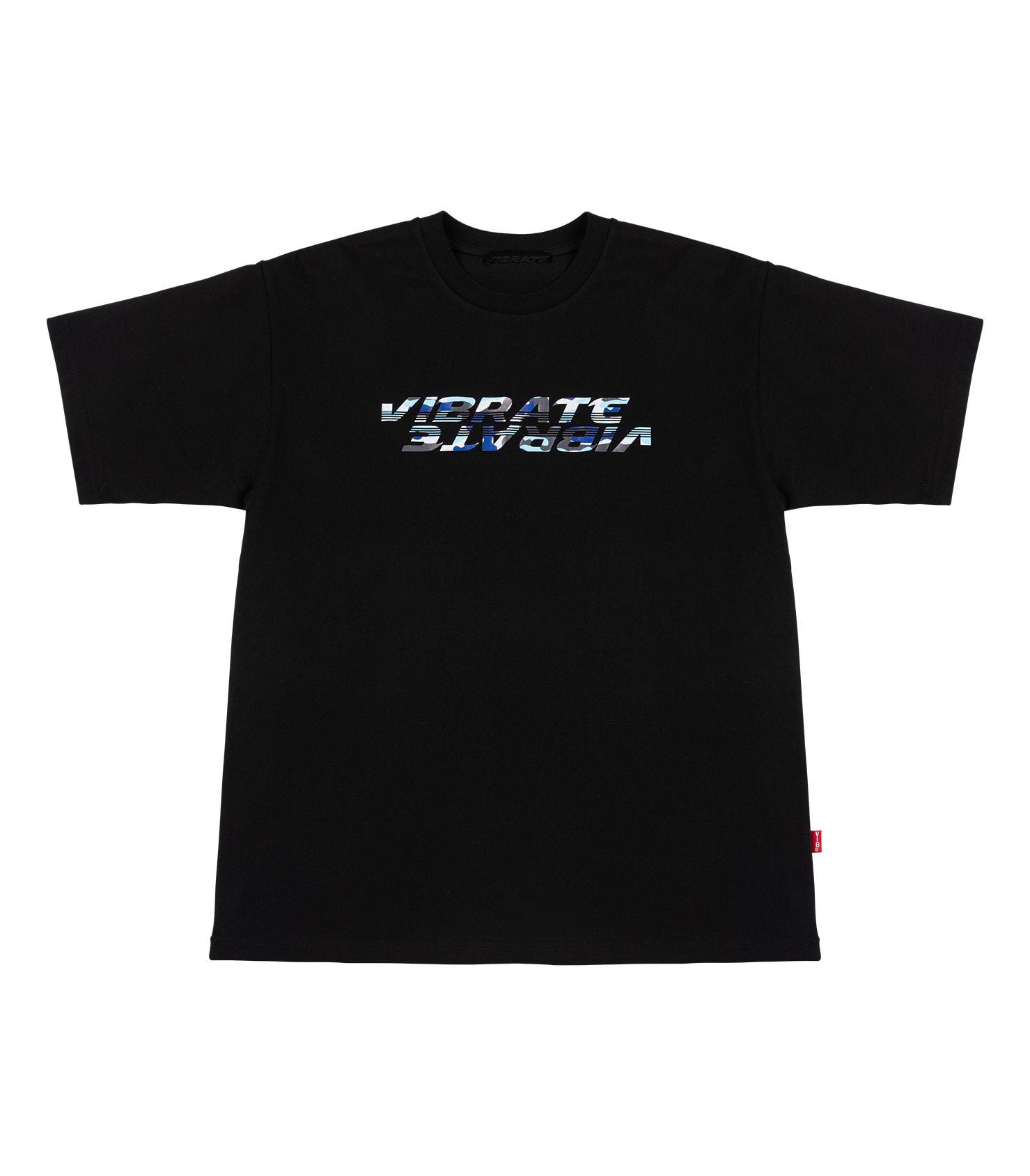 BLUE MILITARY LOGO T-SHIRT (BLACK)