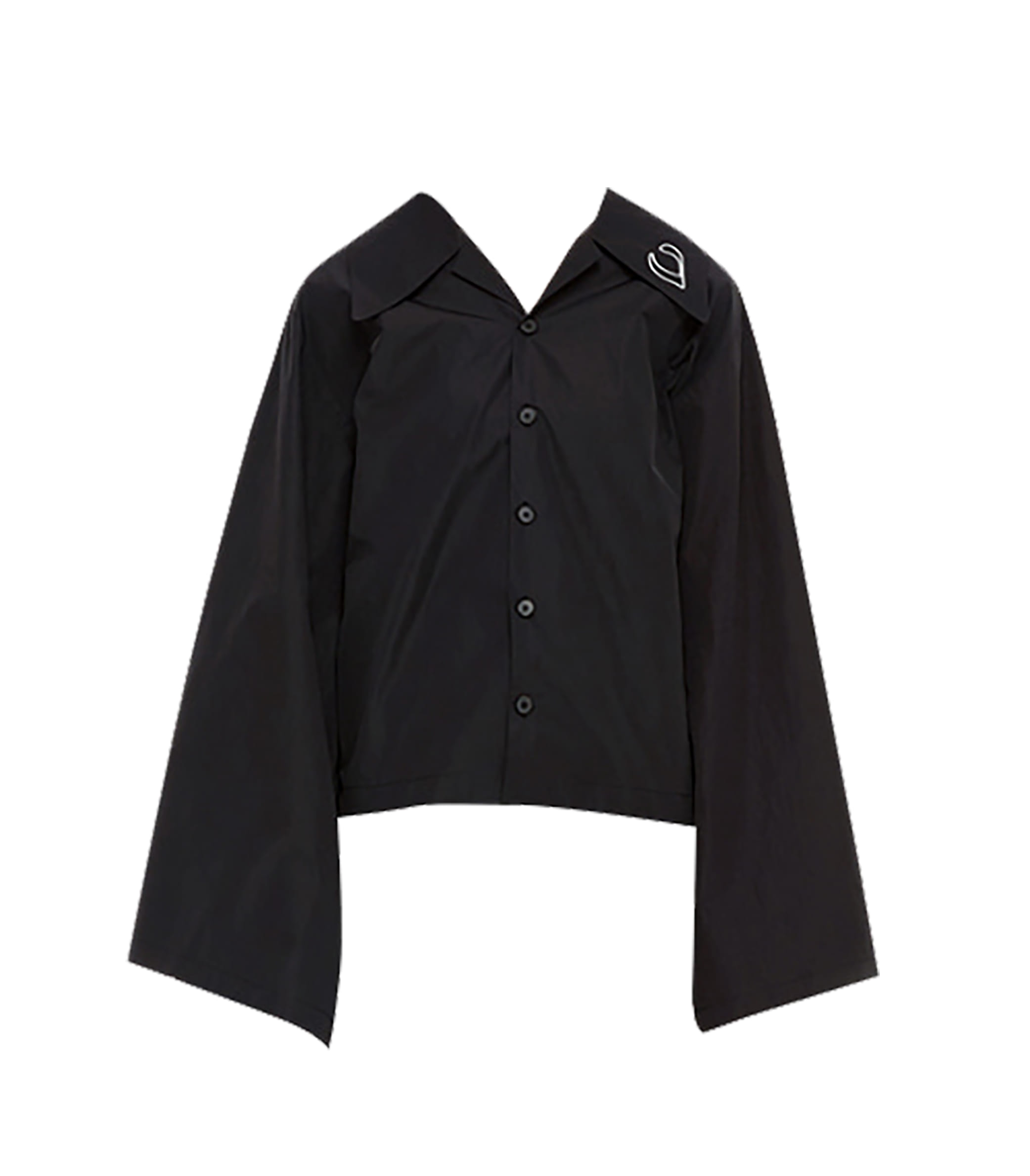 LONG SLEEVES SHORT SHIRT (BLACK)