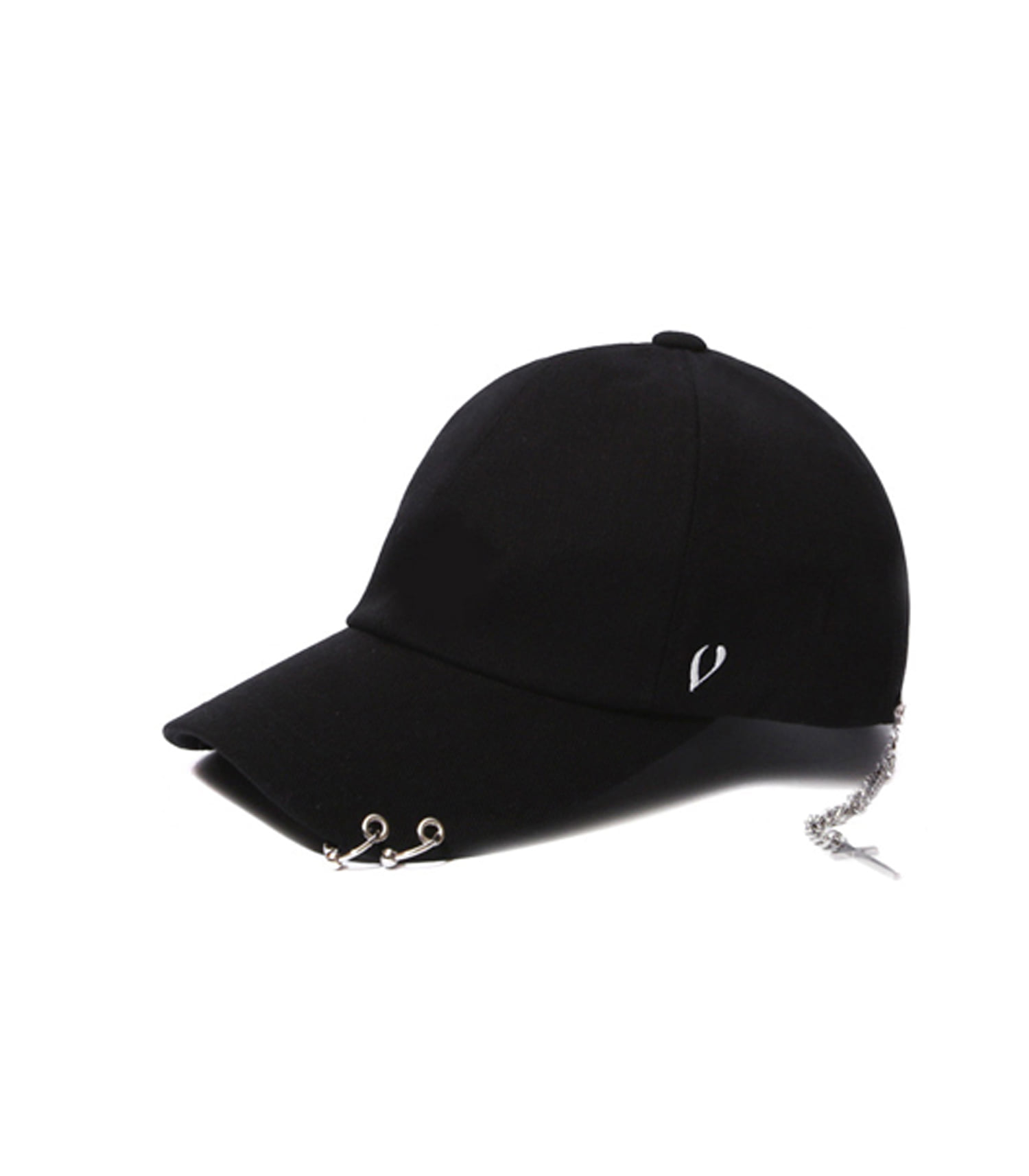 BLACK LINE - SILVER CROSS BALL CAP (BLACK)