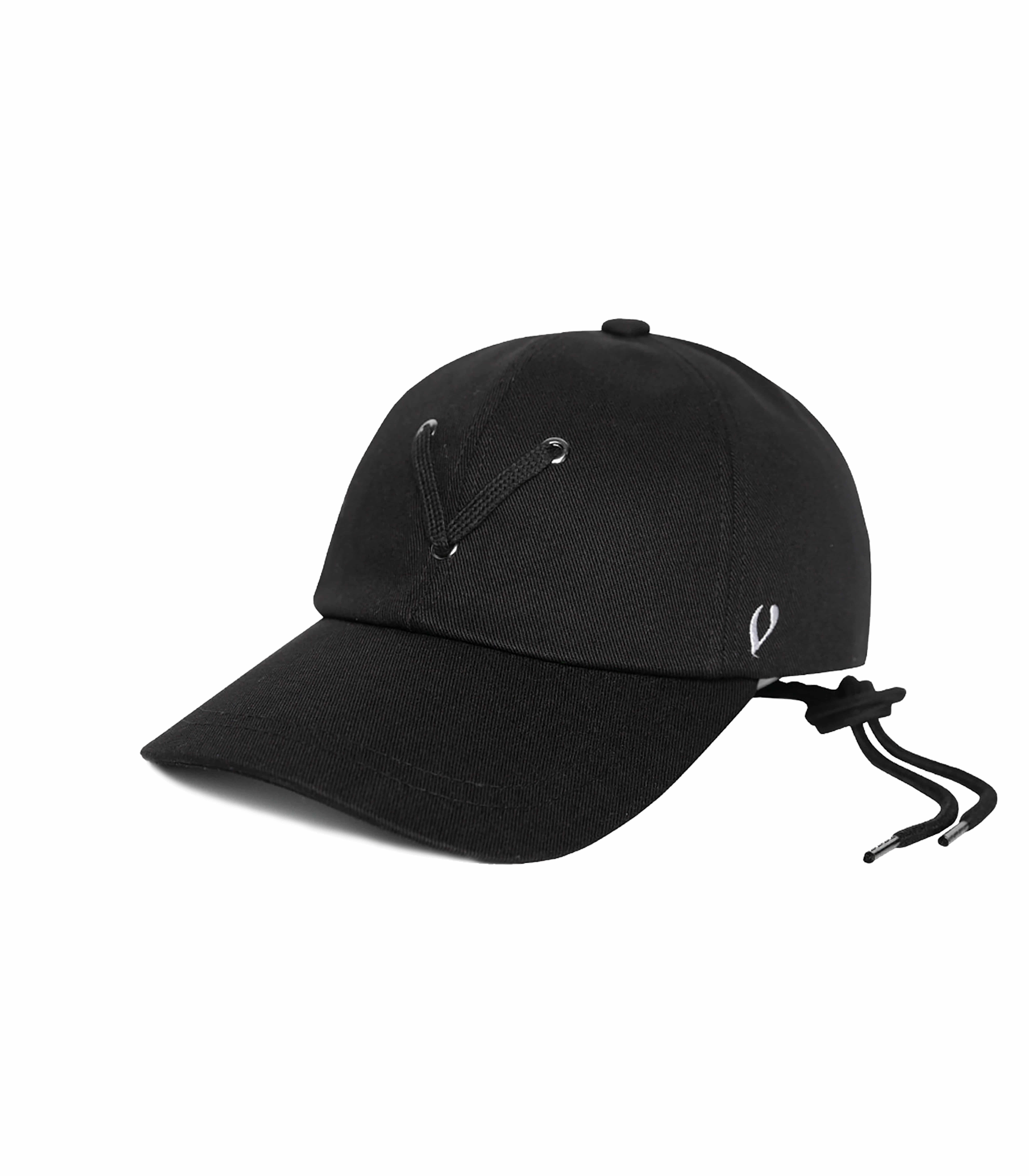 BLACK LINE - STRING POINT BALL CAP (black)