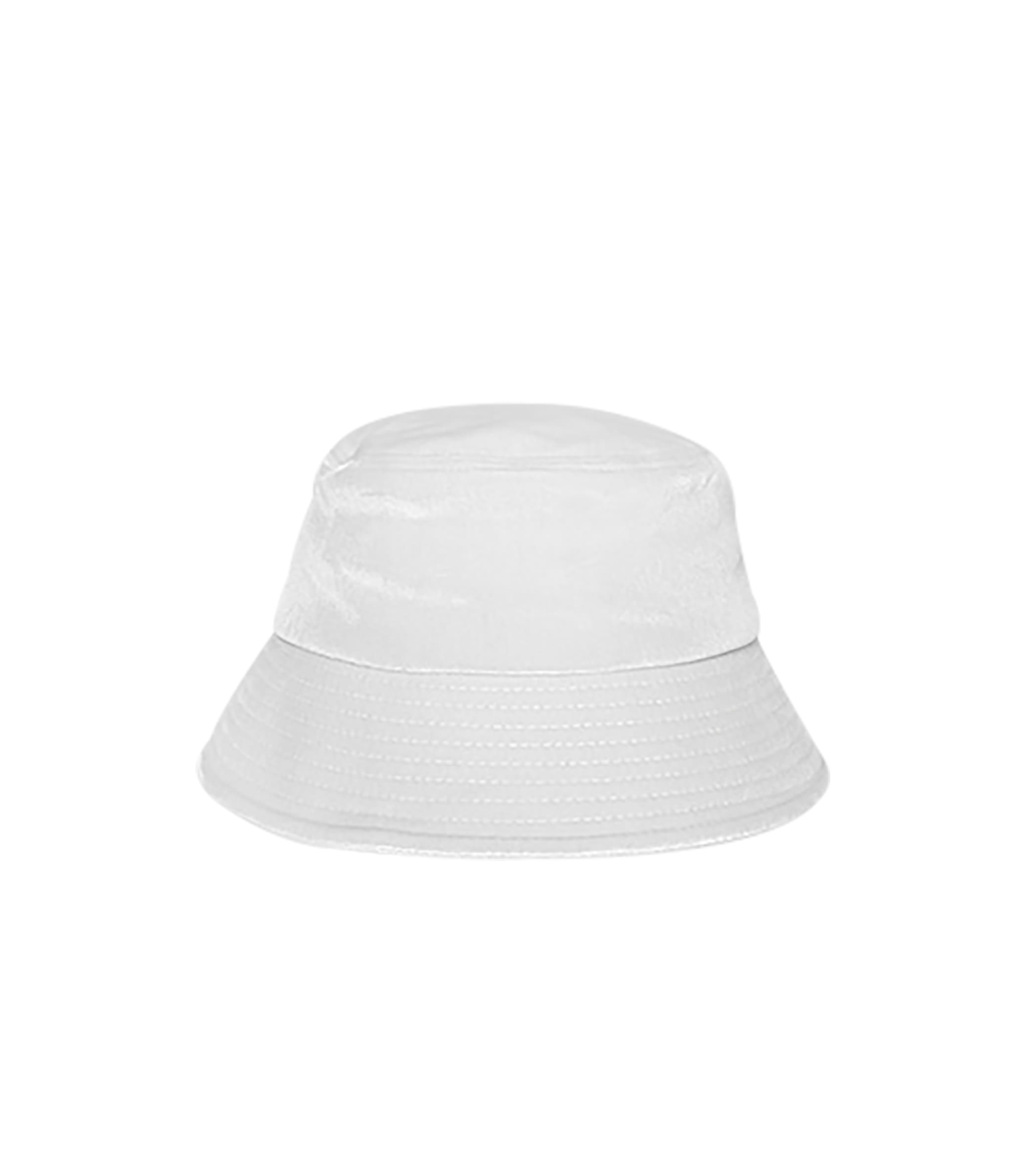BLACK LINE - VELVET BUCKET HAT (WHITE)