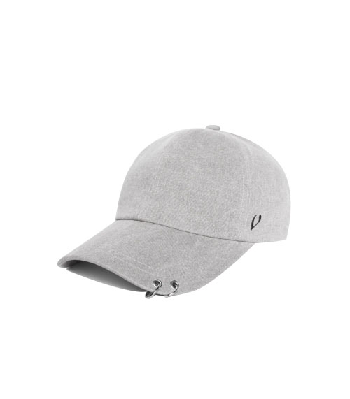 BLACK LINE - TWIN RING BALL CAP (gray)