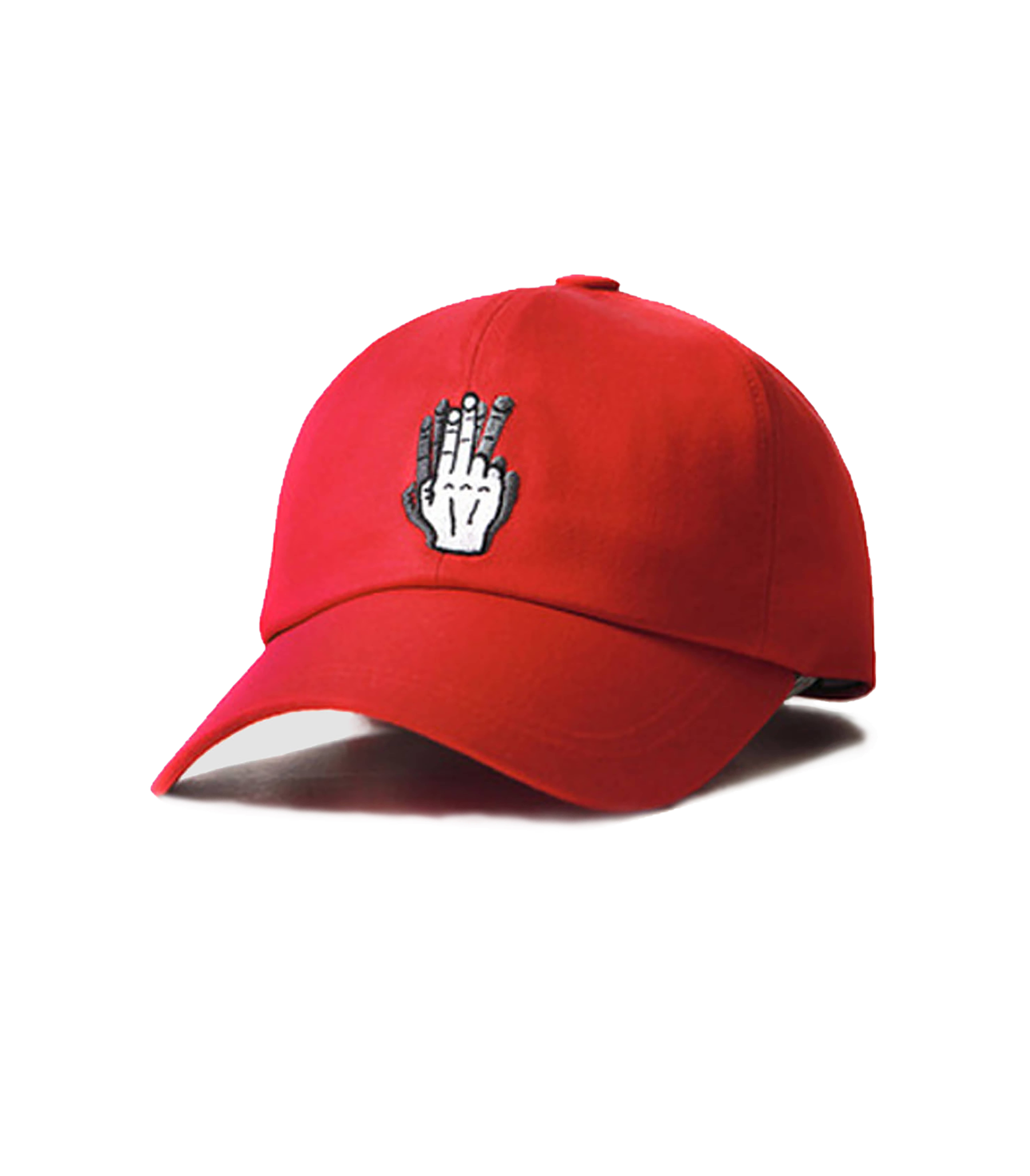 VIBRATE - HAND SHAKE SIGN BALL CAP (red)