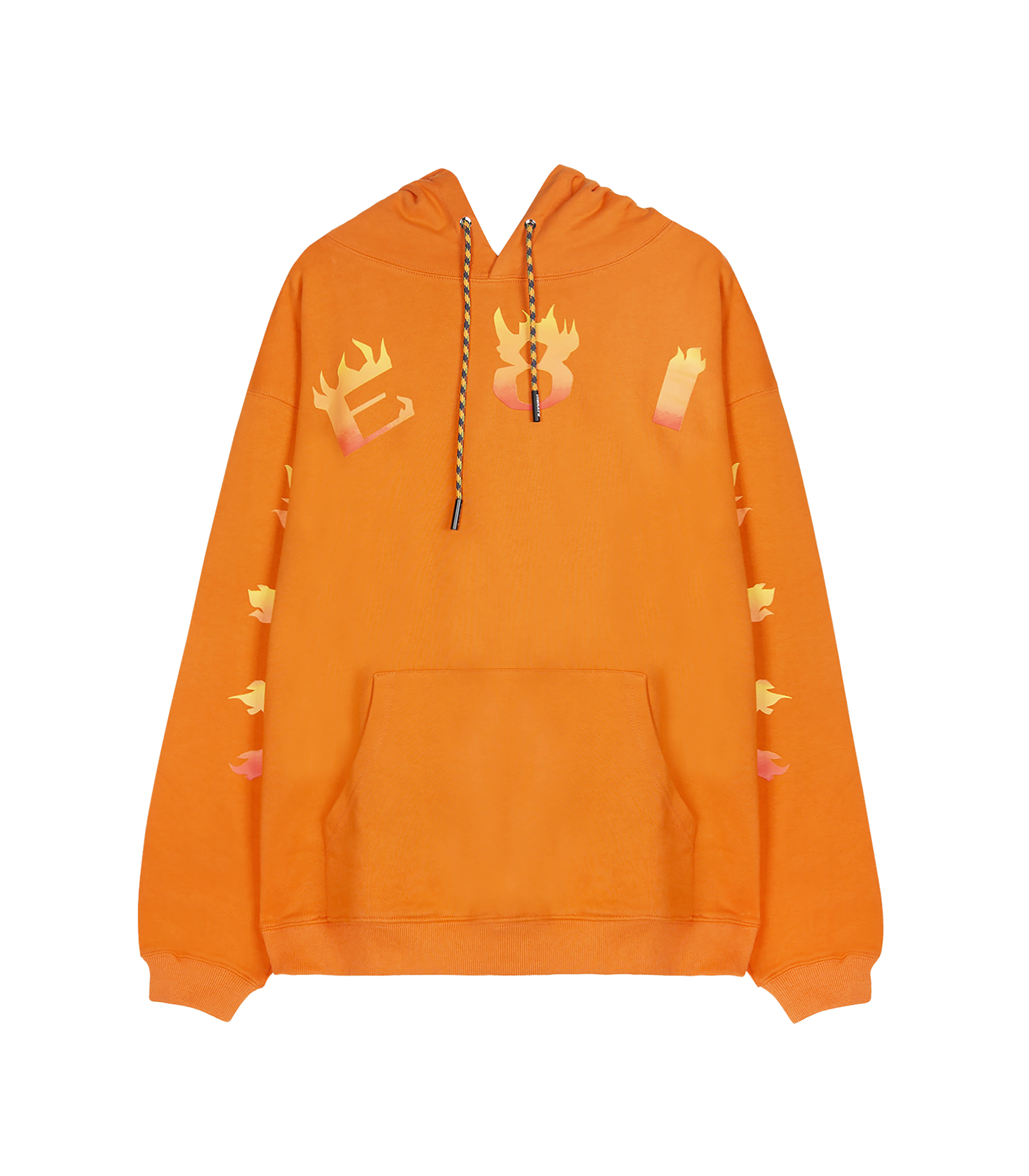 VIBE8IGHT ON CHEST HOODIE (ORANGE)