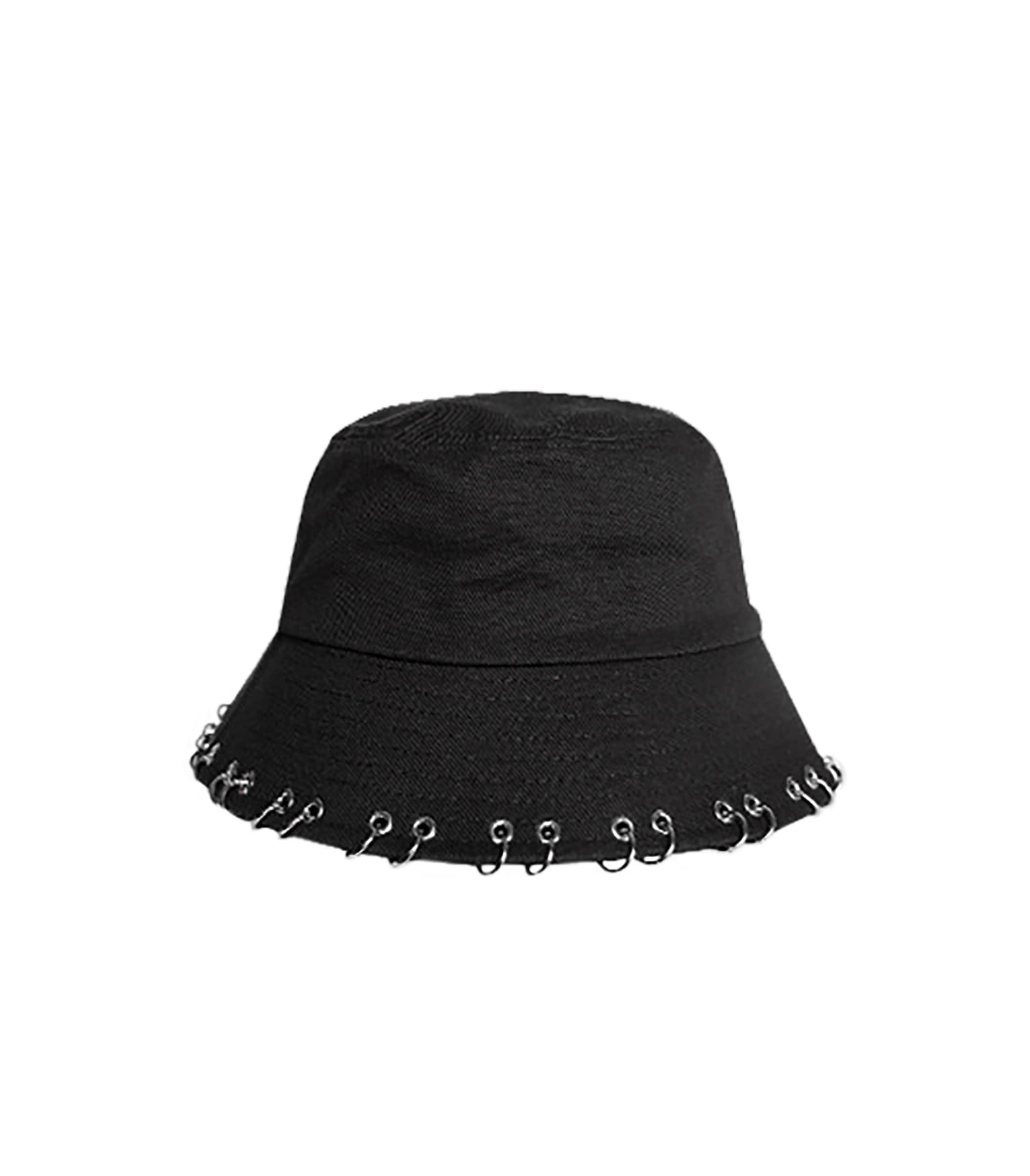 BLACKLINE - RING PIERCING BUCKET HAT (BLACK)