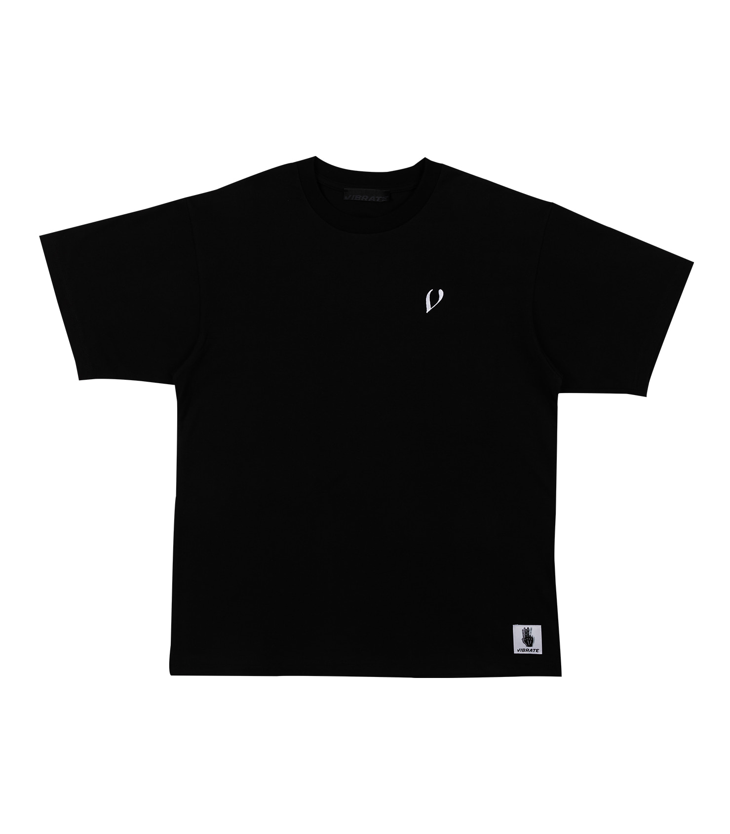 FINGER LOGO PRINTING T-SHIRT (BLACK)