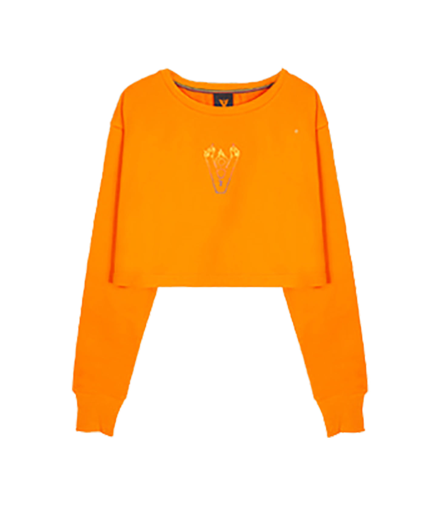 BLAZE LOGO CROP TOP (ORANGE)