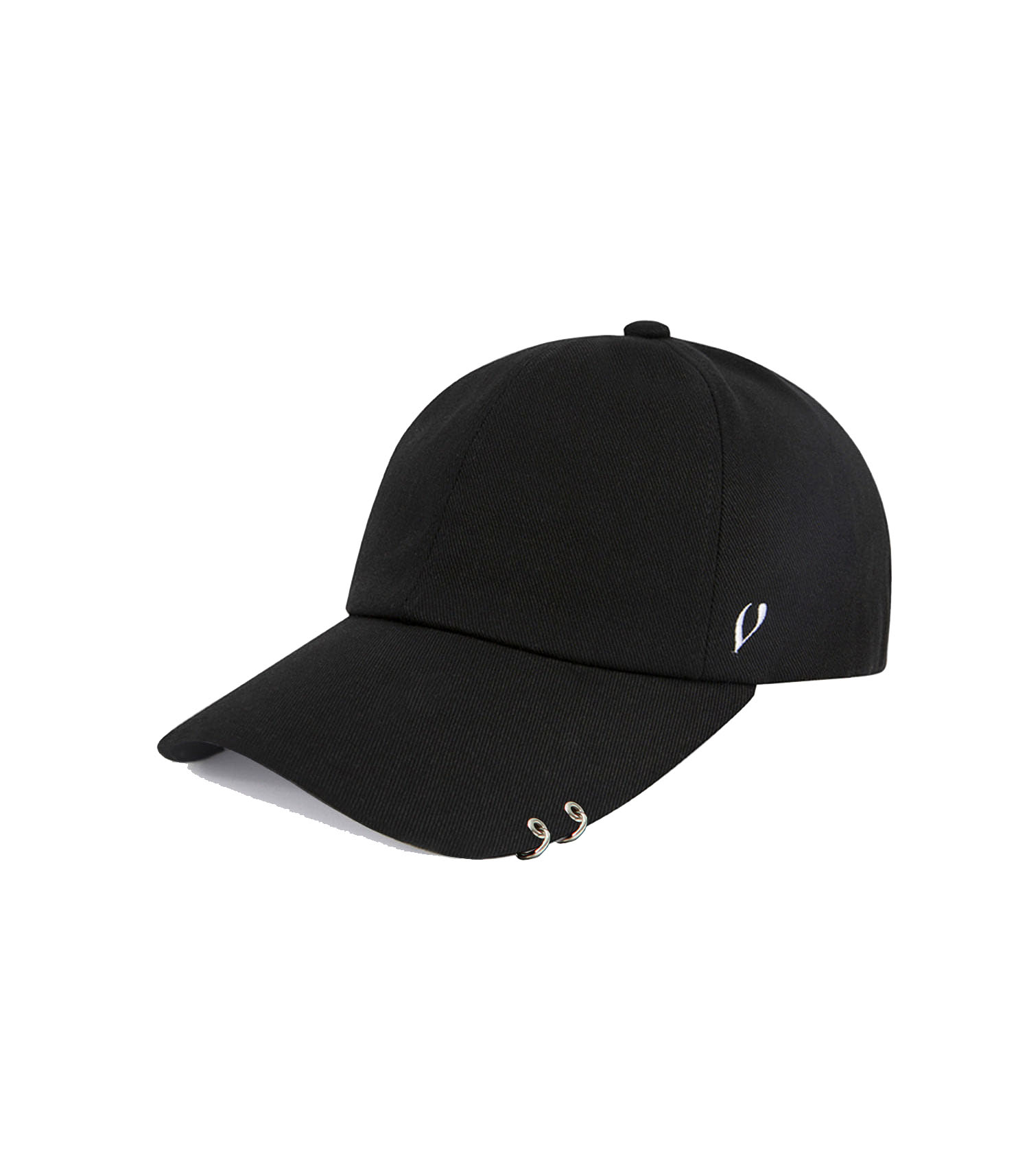 BLACK LINE - TWIN RING BALL CAP (BLACK)