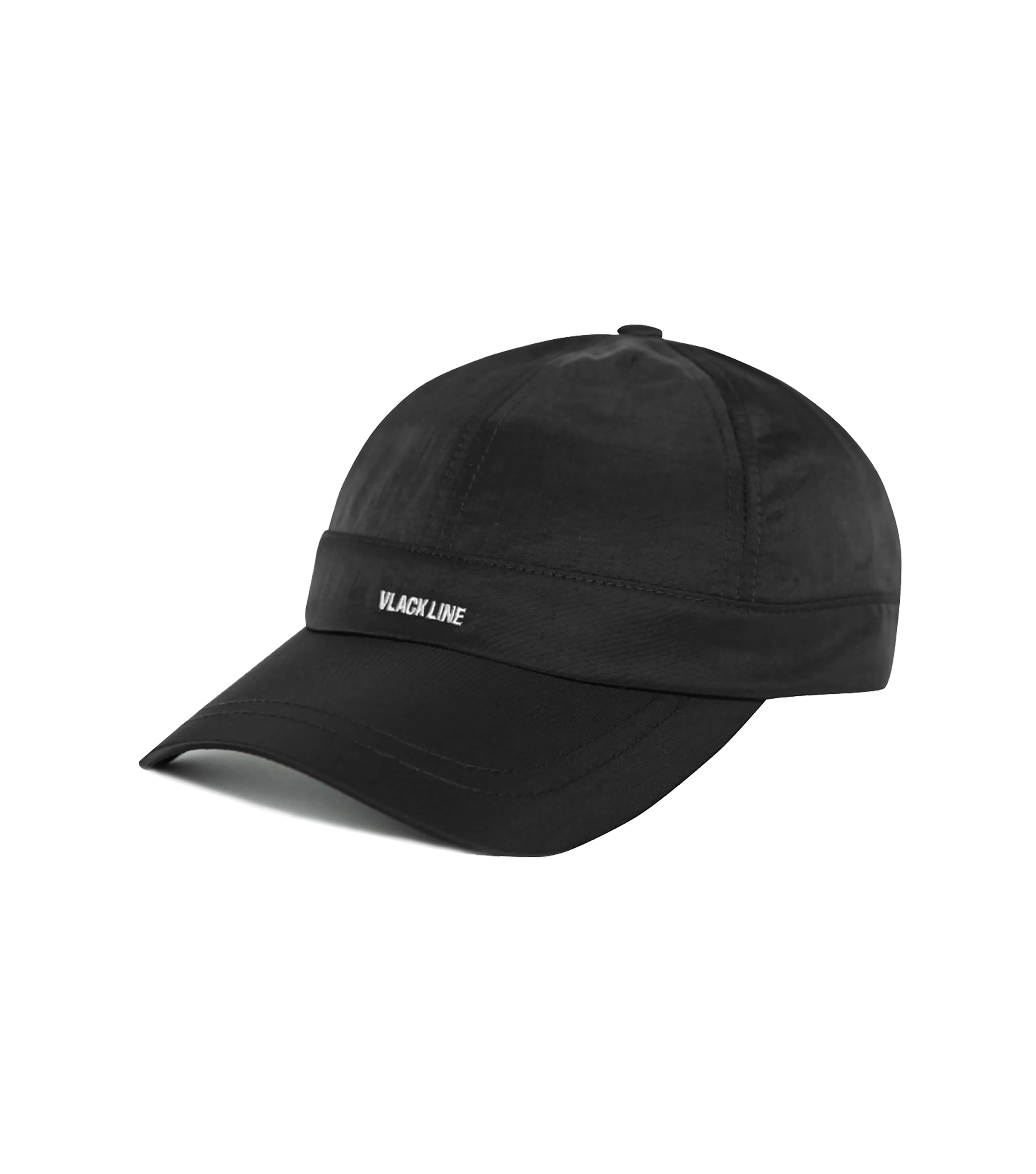 VLACK LINE - BASIC LOGO BALL CAP (BLACK)