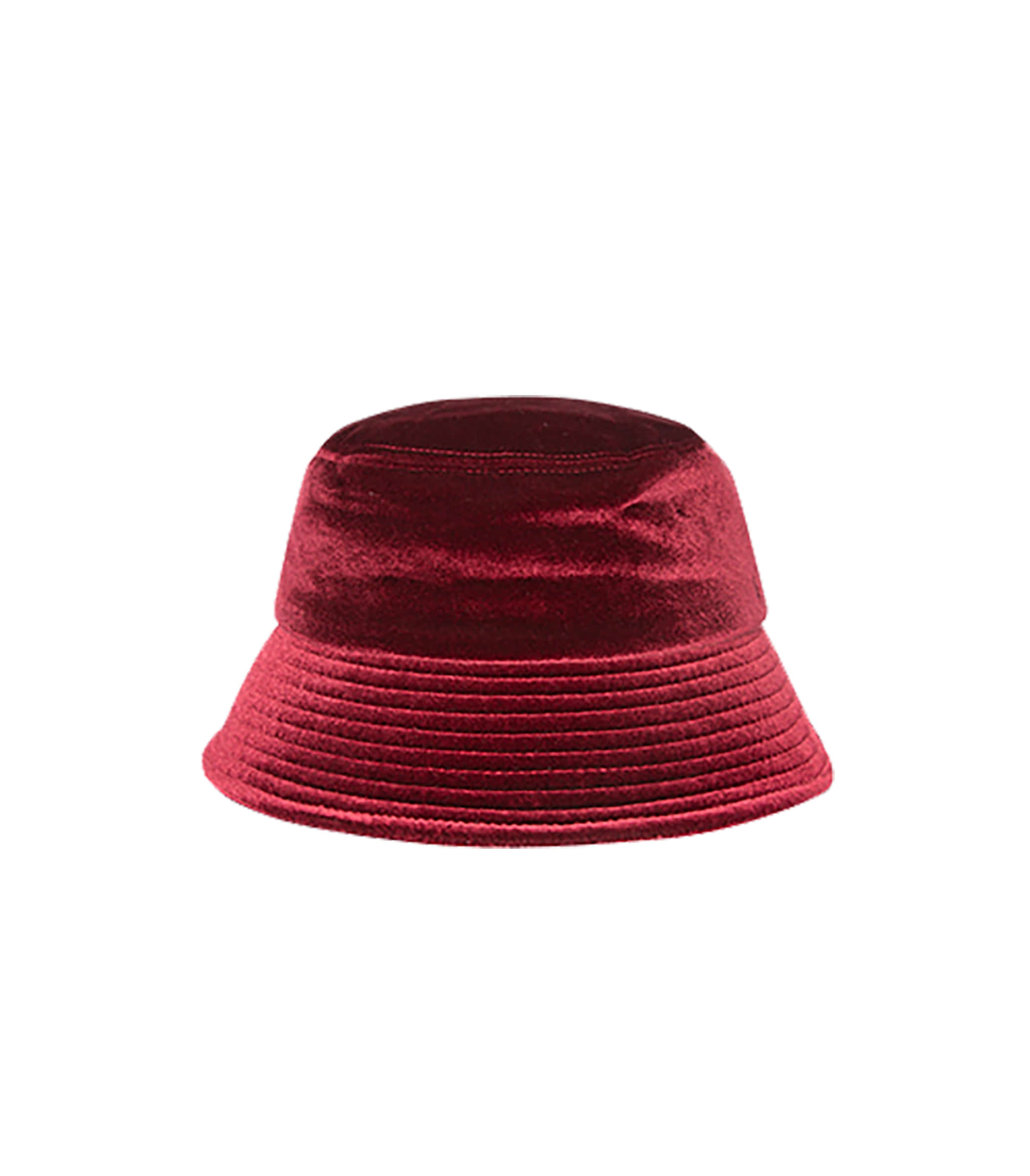 VELVET BUCKET HAT (WINE)