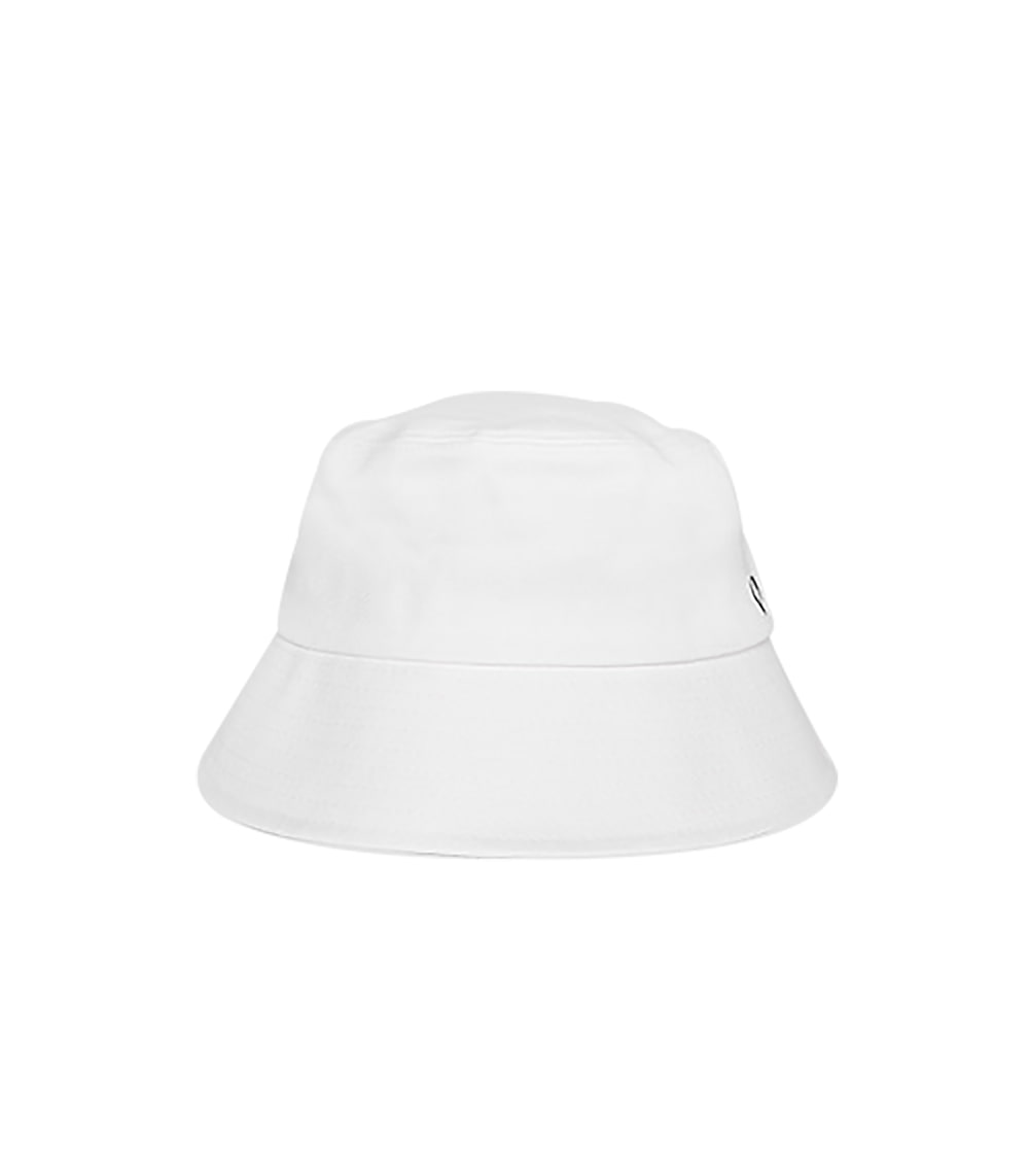 SOFT LEATHER BUCKET HAT (WHITE)